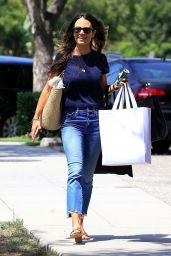 Jordana Brewster in Jeans - Shopping in Beverly Hills 08/16/2017