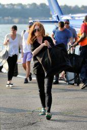 Julianne Moore - 30th Street Heliport in New York City 08/20/2017