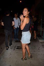 Julissa Bermudez Night Out - Leaving Catch LA Restaurant in Los Angeles 08/19/2017