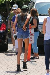 Kaia Gerber Leggy in Denim Shorts - Malibu 08/11/2017