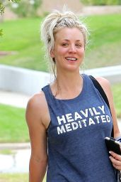 Kaley Cuoco - Leaving Workout Session in a Park in LA 08/15/2017