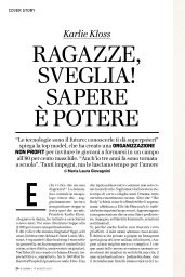 Karlie Kloss - IO Donna Magazine August 2017 Issue