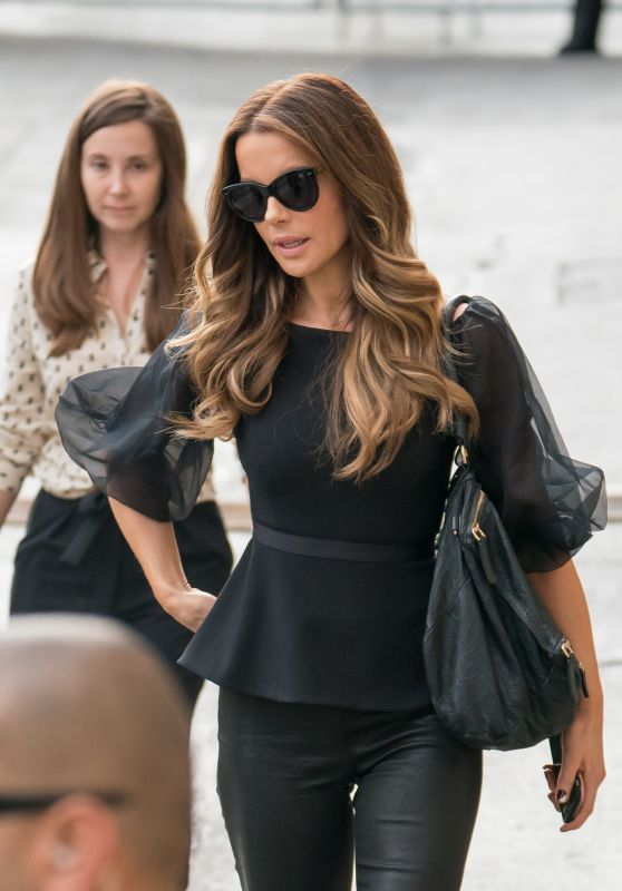 Kate Beckinsale - Arriving to Appear on Jimmy Kimmel Studio 08/01/2017