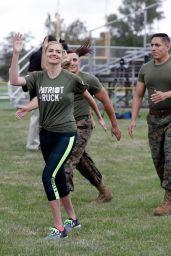 Kate Upton - Marine Workout in Detroit 08/22/2017