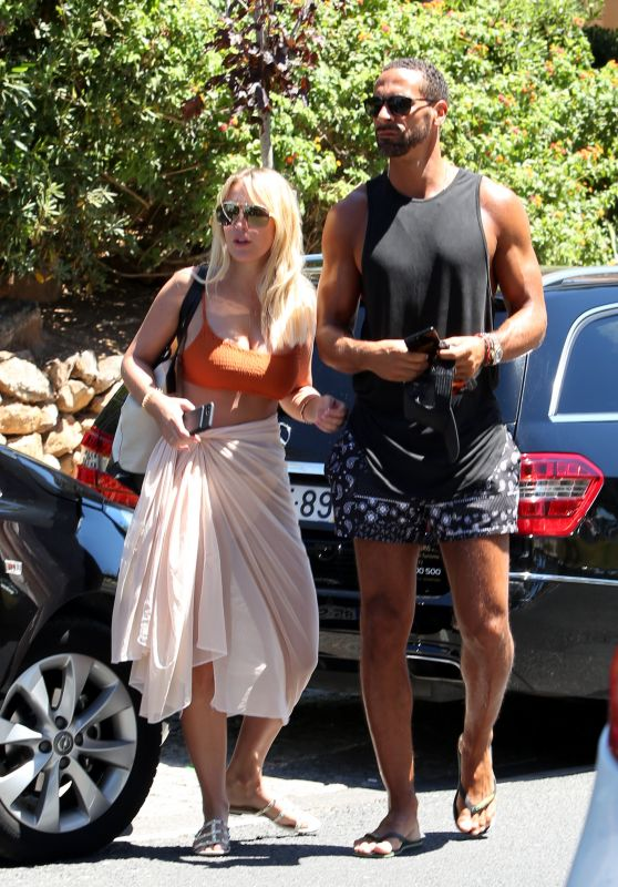 Kate Wright With Boyfriend Rio Ferdinand in Portugal 07/28/2017