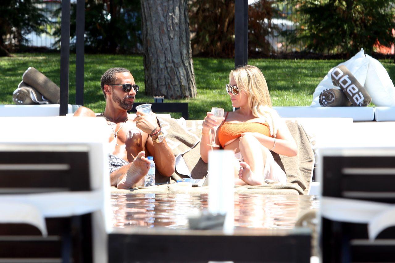 Kate Wright With Boyfriend Rio Ferdinand In Portugal 07 28