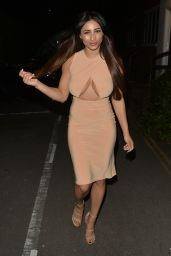 Kayleigh Morris Night Out Style - London, UK 08/20/2017