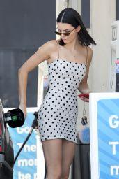 Kendall Jenner in Black and White Polka Dot Dress - Beverly Hills 08/23/2017