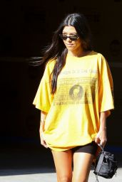 Kourtney Kardashian Street Style - Out in Los Angeles 08/22/2017