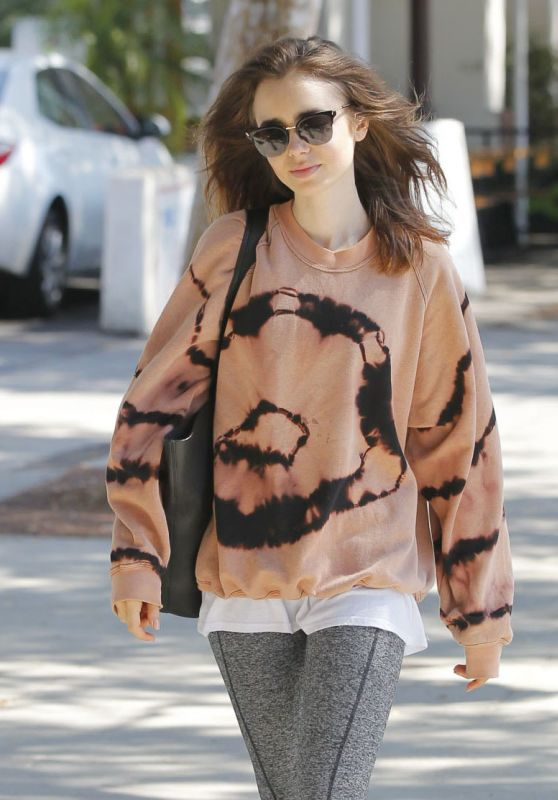 Lily Collins - After the Workout in West Hollywood 08/22/2017