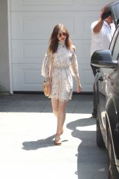 Lily Collins - Leaves A Private Party in Brentwood 08/13/2017