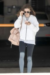 Lily Collins - On Her Way to the Gym in West Hollywood 08/11/2017