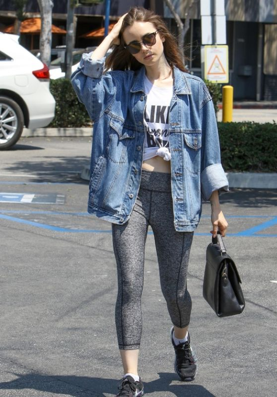 Lily Collins - Shopping at Ralph