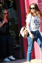 Lily Collins - Shopping With Her Mother in Beverly Hills 08/22/2017
