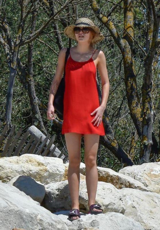 Lily-Rose Depp at the Beach, Île de Ré Island in France 08/17/2017