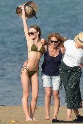 Lily-Rose Depp in Bikini at Ré Island in France 08/12/2017