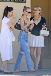 Lily-Rose Depp Street Style - Steps Out for Lunch in Beverly Hills 08/22/2017