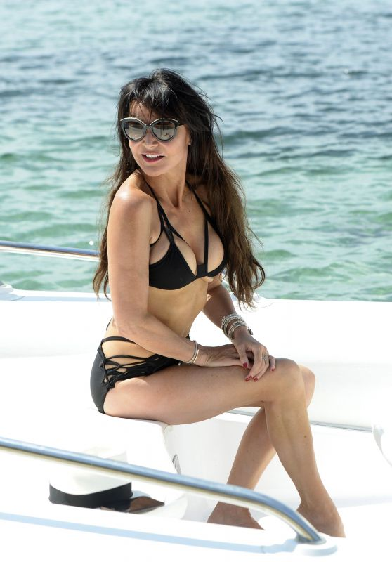 Lizzie Cundy in a Bikini - Holiday 2017