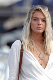 Louisa Johnson on a Yacht in Ibiza 08/16/2017