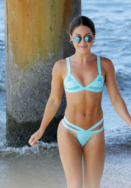 Louise Thompson Bikini Photoshoot - Beach in Vencie, CA 07/31/2017