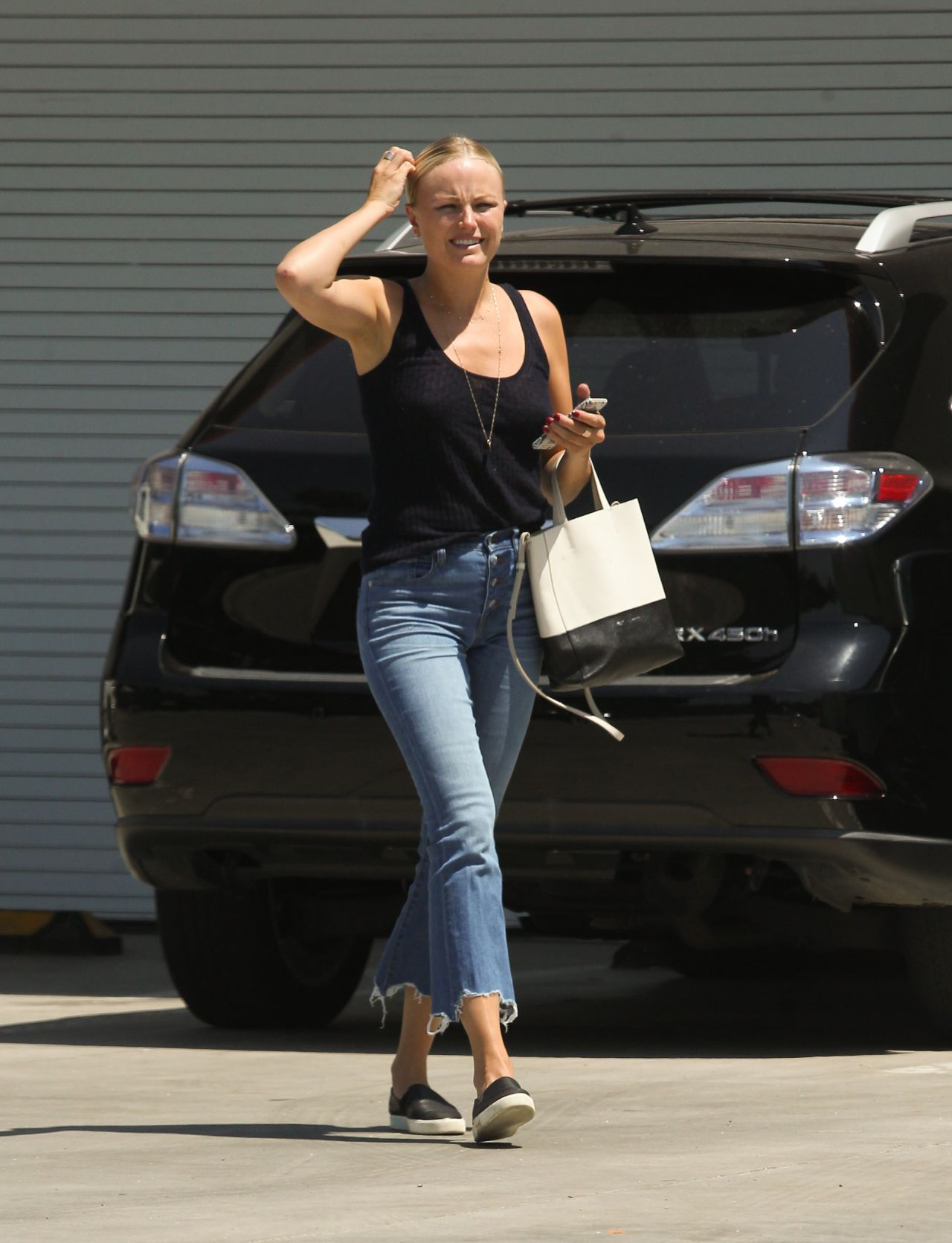 Malin Akerman - Arriving at an Office in Hollywood 07/31/2017