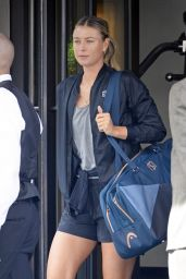 Maria Sharapova - On Way to Practice at the US Open in Flushing, NYC 08/24/2017