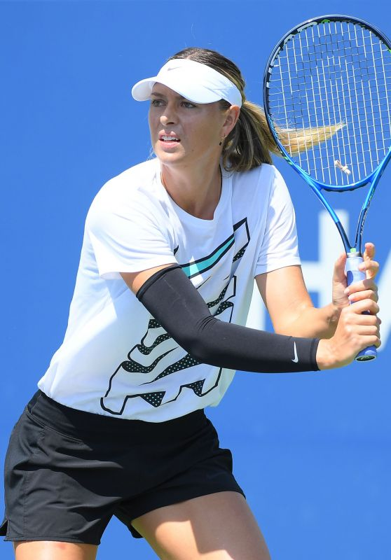 Maria Sharapova Practice Session - 2017 US Open Tennis Tournament at Flushing Meadows in NYC 08/24/2017