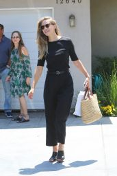 Melissa Benoist - Arrives to a Private Party in Brentwood 08/13/2017