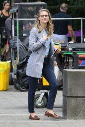 "Melissa Benoist- ""Supergirl""Movie Set in Vancouver 08/30/2017"