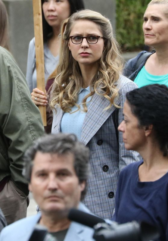"Melissa Benoist- ""Supergirl""Movie Set in Vancouver 08/30/2017"