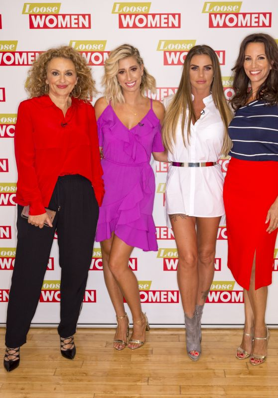 "Nadia Sawalha, Stacey Solomon, Katie Price, Andrea McLean - ""Loose Women"" TV Show in London 08/28/2017"