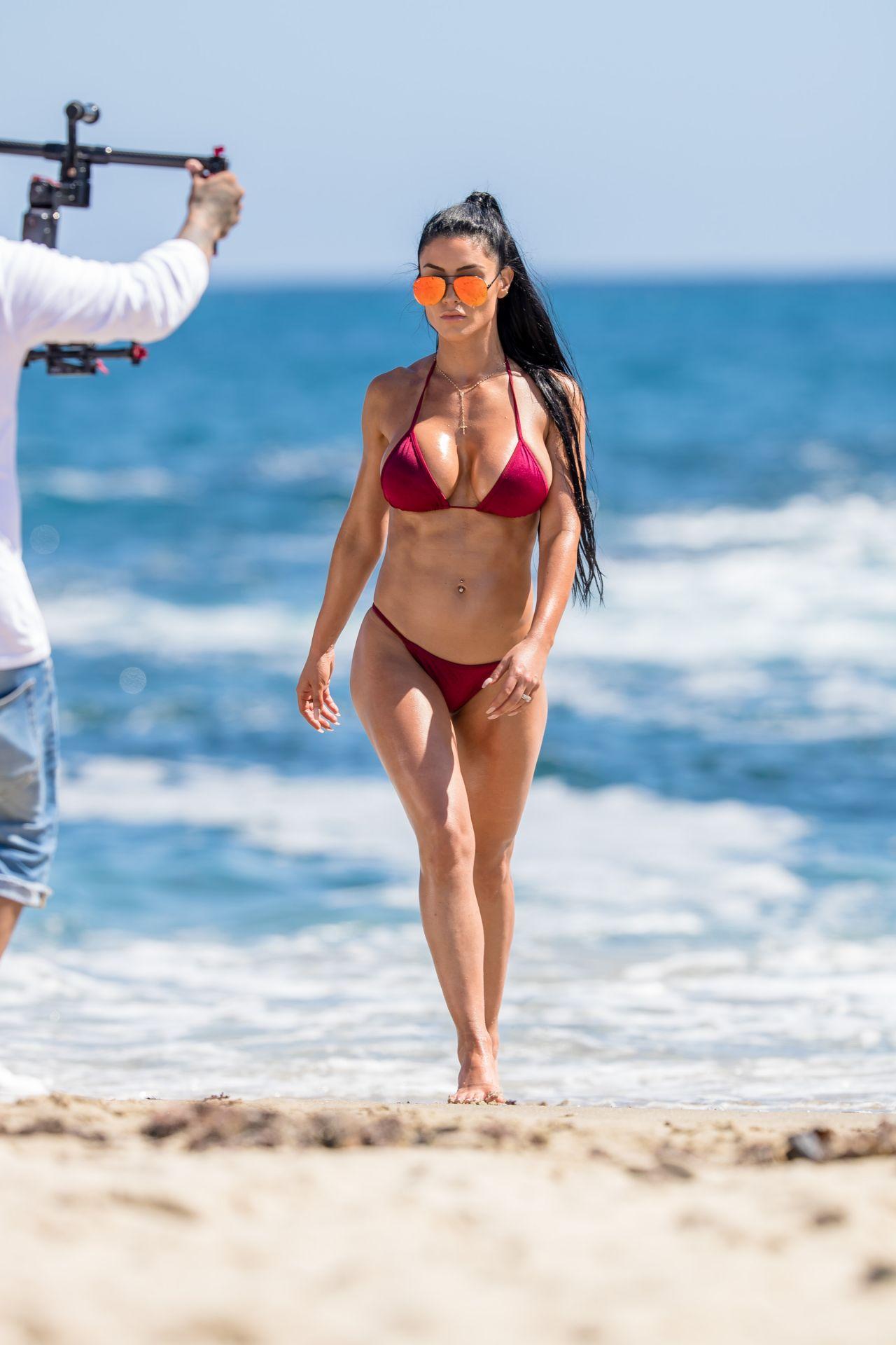 Eva marie bikini shoot behind the scenes 5