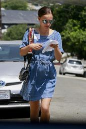 Natalie Portman in Denim Dress - Los Angeles 08/24/2017
