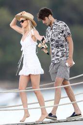Nicola Peltz on a Pier in Saint-Tropez 08/13/2017