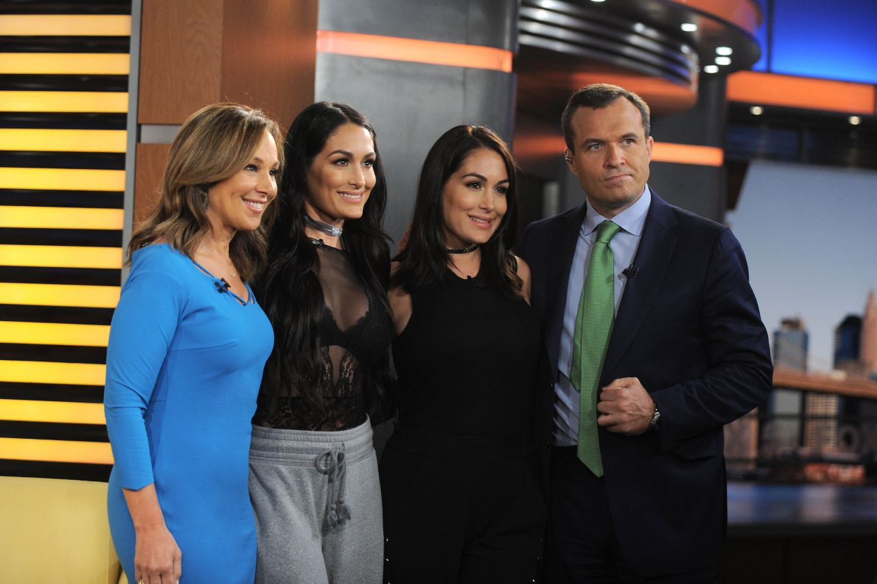 Nikki Bella and Brie Bella Appeared on Good Day New York Fox