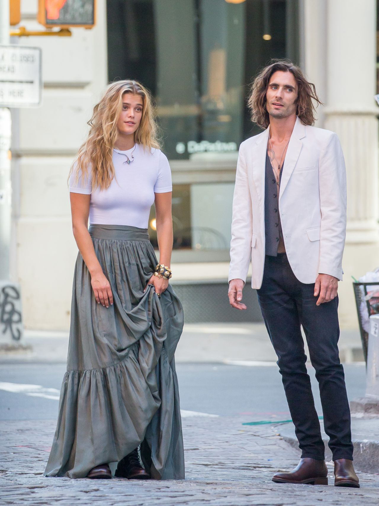 Nina Agdal And Singer Tyson Ritter Photoshoot In Soho