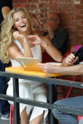 Nina Agdal With Start-Up Founder Tarik Sansal to Preview New Romio App in NYC 08/20/2017