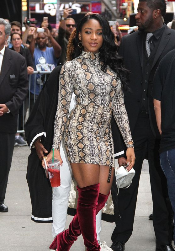 "Normani Kordei - Leaving ""Good Morning America"" in NYC"