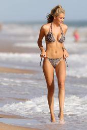 Olivia Attwood in a Leopard Print Bikini - Holiday in Portugal 08/10/2017