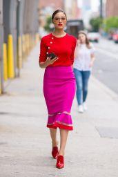 Olivia Culpo is Stylish - SoHo in NYC 08/14/2017