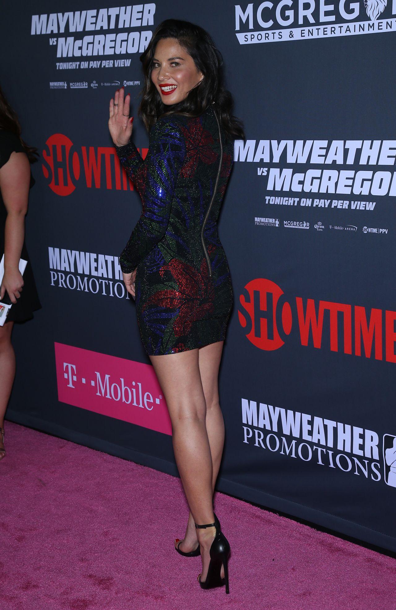 Olivia Munn Mayweather Vs Mcgregor Pre Fight Vip Red Carpet In Las Vegas 08 26 2017