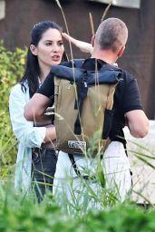 "Olivia Munn - ""Six"" Season 2 Filming in Vancouver 08/10/2017"