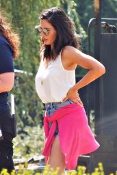 """Olivia Munn - """"The Buddy Games"""" Set in Vancouver 08/15/2017"""