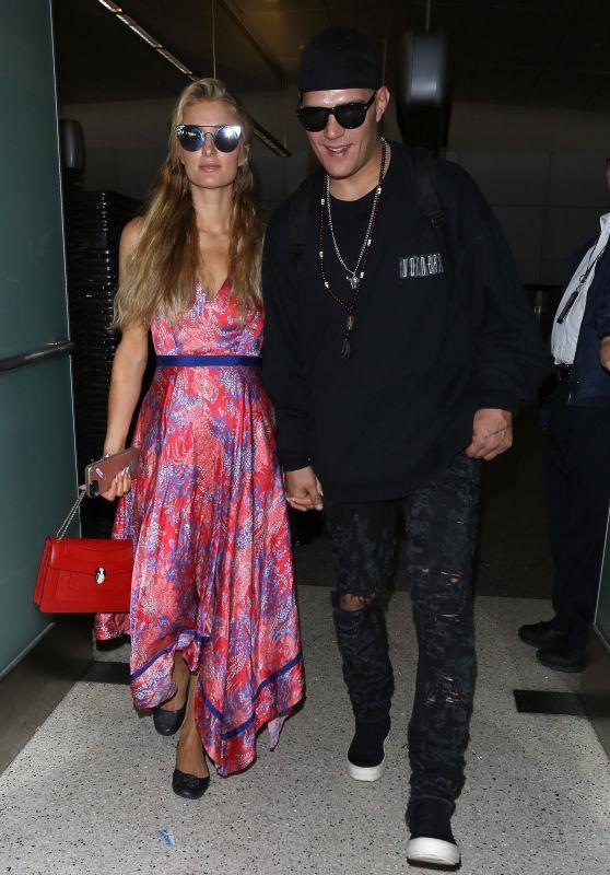Paris Hilton at LAX Airport in Los Angeles 08/28/2017