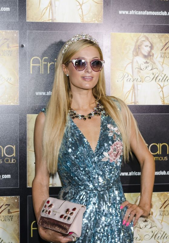 "Paris Hilton - Gig at the Trendy Night Club ""Africana"" in the Amalfi Coast"