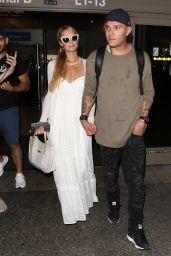 Paris Hilton With Chris Zylka at LAX Airport in LA 08/21/2017