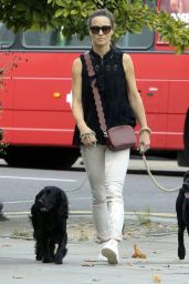 Pippa Middleton Walking Her Dogs - Kings Road in London 08/23/2017