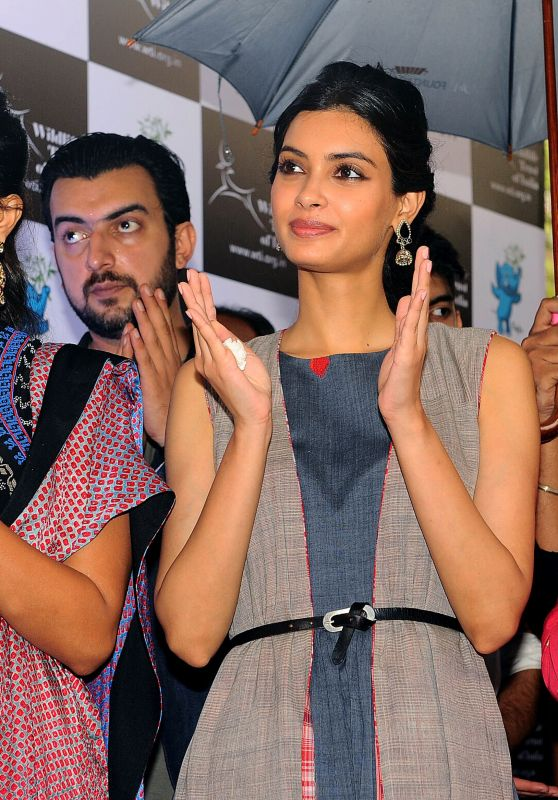 Pooja Hegde, Diana Penty and Sayani Gupta - Launch of Gaj Yatra in Mumbai 08/13/2017