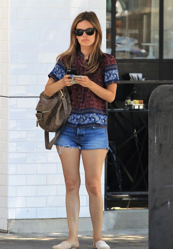 Rachel Bilson Leggy in Jeans Shorts - Los Angeles, CA 08/29/2017