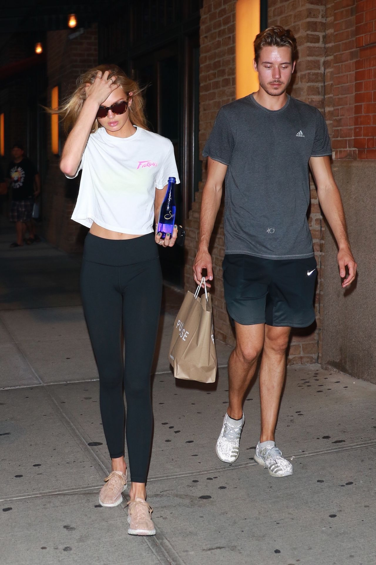 Romee strijd in tights walks with her boyfriend in new york naked (17 image)